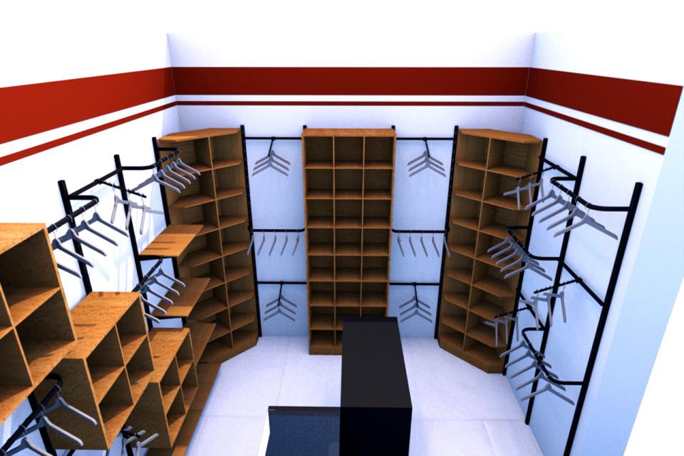 Návrh interiéru - vybavení obchodu, design obchodu