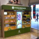 YVES ROCHER - vybavení obchodu, design obchodu