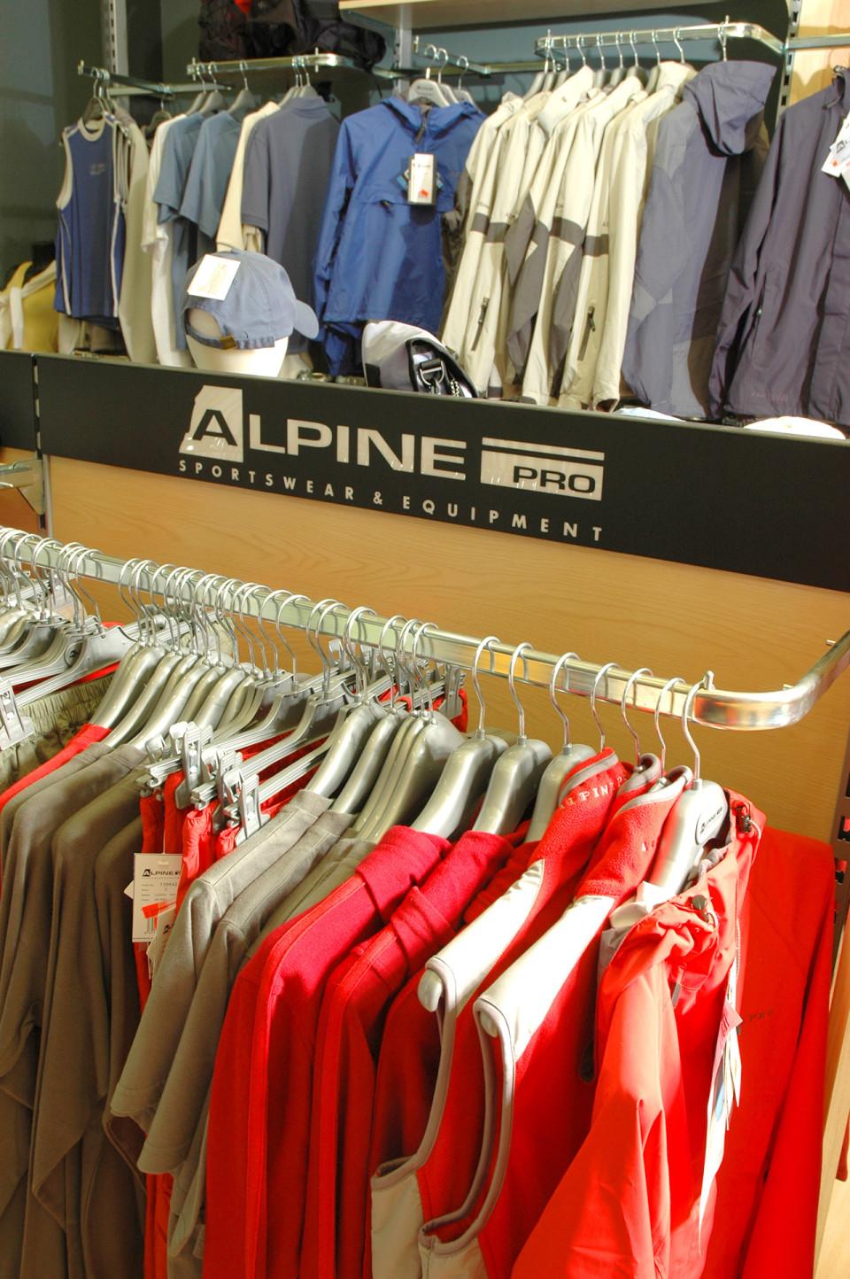 Alpine Pro - vybavení obchodu, design obchodu